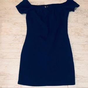 SPARKLE & FADE (UO) mini off shoulder dress